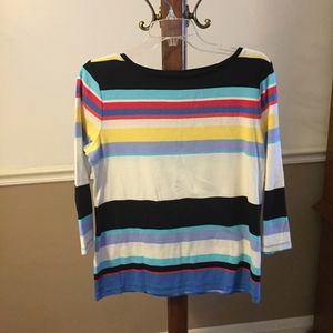 Talbots Size Medium, multicolored cotton tee